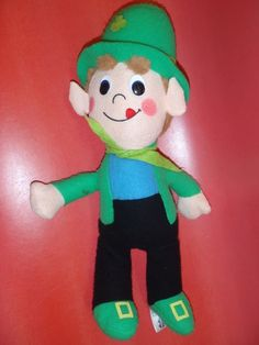 "Vintage Lucky Charms Leprechaun 17"" Stuffed 1979, by Animal Fair PLUSH CEREAL #GeneralMills"