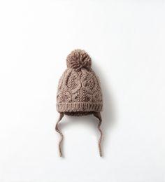 Image 1 of KNITTED POM-POM HAT from Zara