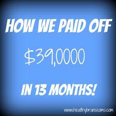 Healthy Branscoms: How we paid off $39,000 in debt in 13 months