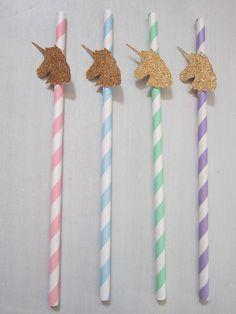 Unicorn Straws ~ Unicorn Head ~ Unicorn Party ~ Unicorn Punch ~ Unicorn Drink by DKDeleKtables on Etsy