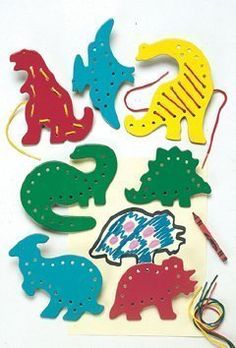 dinosaur lacing and tracing cards