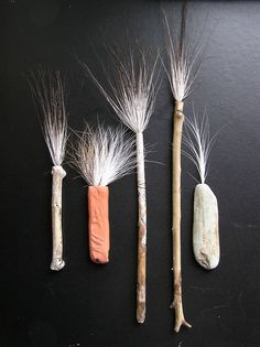 handmade brushes.
