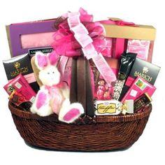 Great arrivals gift baskets itunes cool easter treats teen tween gift basket drop shipping prinpi easter pretty in pink easter gift basket negle Images