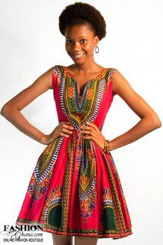 Ekwaiba Colors Skater Dress With Print Collar