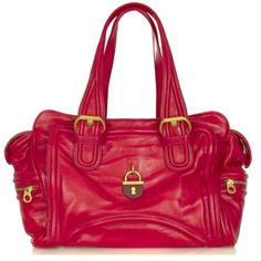 """MARC by MARC JACOBS LARGE SATCHEL RED BAG This Authentic gently loved Marc by Marc Jacobs red leather satchel bag is adorned with gold-toned hardware. The two handles scream """"hold me"""" and the padlock detailing adds a sense of individuality.  This bag has little wear and is in great condition. Marc by Marc Jacobs Bags Satchels"""