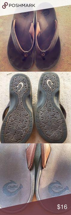 Olukai Ohana flip flop thong sandals brown! Nice pair of Olukai Ohana flip flops.  Size 6. No flaws, some wear, lots of life left! OluKai Shoes Sandals