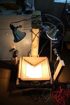 DIY Book Scanner by hardwarehank, via Flickr