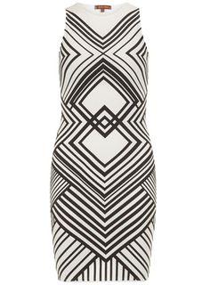 Dorothy Perkins White/black geometric dress