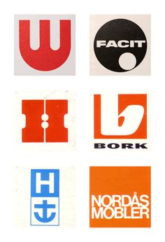 """Scandinavian Logos from the 1960s and 70s...""""bork""""!!! My fave one! Was that a logo done for the Swedish Chef? :) #nerdalert"""