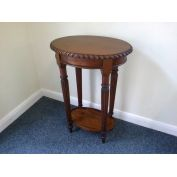 Mahogany oval  side table or  hall table by Ancient Mariner, in stock at Jeremy Hill Furnishings.