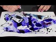 """Marie Vinouse propose Le tuto du mois dans son blog avec la technique """"eau, encre et sel"""".  Grâce à cette technique, de magnifiques motifs apparaissent rapidement ! Un tuto facile à réaliser quelque soit votre niveau."""