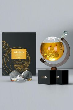 The set is probably THE BEST gift you can get for any whiskey lovers😍 The Classy Couple Premium Gift Set includes: 🌎 The Whiskira™ Globe Decanter 💫 The Wobbling Glass™ x 2  🥃 Instantly elevate your home atmosphere 🥃 Fun to play with, Classy to drink with 🥃 Anti-spill, helps bring out the full aroma of your whiskey  Shop Now ⬇️⬇️ www.whiskira.com  We offer a 30 Day no-questions-asked refund guarantee🔒 in case you change your mind too! Whiskey Gift Set, Classy Couple, Packaging Design, Gifts For Him, Cool Things To Buy, Best Gifts, Gadgets, Alcohol, Glass