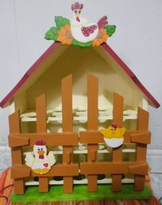 Imagen relacionada Decoupage, Wood Crafts, Diy And Crafts, Egg Holder, S Pic, Kids Christmas, Gift Baskets, Ideas Para, Carving