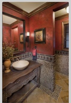 Boys bathroom suggestion with a lighter paint color on the wall.