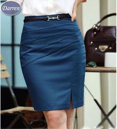 Encontrar Más Faldas Información acerca de Primavera verano otoño moda trabajo…