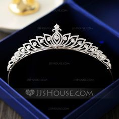 [£ Ladies Exquisite Zircon Tiaras With Cubic Zirconia - JJ's House Headpiece Jewelry, Hair Jewelry, Bridal Jewelry, Stylish Jewelry, Cute Jewelry, Jewelry Accessories, Van Cleef And Arpels Jewelry, Princess Jewelry, Bridal Crown