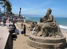 Sand castle art - Puerto Vallarta - Mexico