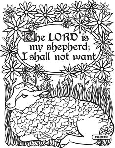 the lord is my shepherd coloring page.html