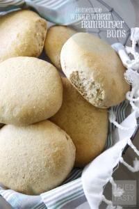 Homemade Whole Wheat Hamburger Buns