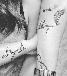 Mom and Daughter Harry Potter Always Tattoo