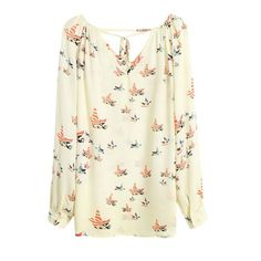 Fashion woman blusa elegant floral blouse casual vintage shirt quality brand blusinhas tops blusas camisas plus size Print Chiffon, Chiffon Tops, Chiffon Shirt, White Chiffon, Look Man, Polyester Material, Chiffon Material, Loose Shirts, Loose Tops