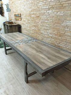 baldosa hidráulica de Leroy Merlin para mesa pequeña terraza