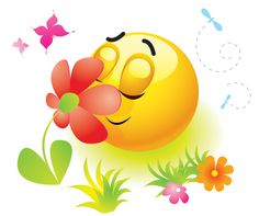 Spring season emoticon.