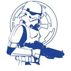 vinilos paredes star wars vinilo stormtrooper cuerpo pared friki