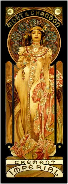 Alphonse Mucha, the great Czech artist. He was a master at iconic pictures, and that, I suspect, is where he got his inspirations.