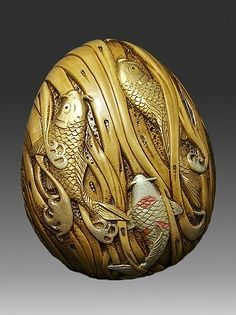 Exercice de Style — fish netsuke Japanese / Japan Antiques : More At FOSTERGINGER @ Pinterest