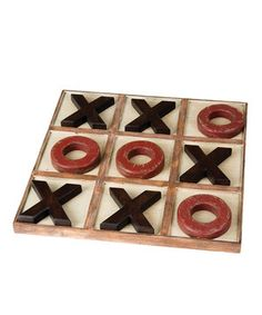 Instead of covering the coffee table with oversize books, place this whimsical tic-tac-toe board right in the center. A classic game is always a wonderful way to pass the time with family and friends.