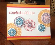 Lacy & Lovely Congratulations Card, Stampin' Up!
