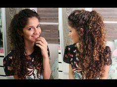 Cabelo meio preso, meio solto - All Things Hair™ - YouTube