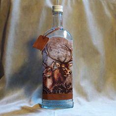 Fľaša pre poľovníka Jeleň a laň hnedá