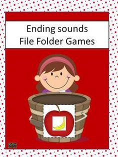 Ending/Final Sound File Folder Games- Pre-k through Ist Grade