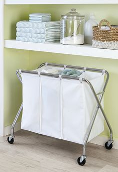 Week 3 of our Six Weeks to Spring Order calls for getting clean! Use our Heavy Duty 3-Bin Laundry Sorter to easily divide up what loads of wash you need to do! And, it's rolling casters are perfect to pick up from room to room!
