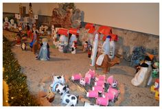 Belen productos reciclado, botellas, nativity