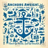 Anchors Aweigh - bedspread design made in Denver, CO