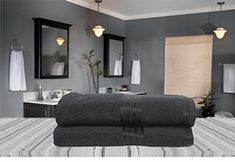 Great prices on your favourite Home brands, and free delivery on eligible orders. Egyptian Cotton Towels, Black Bath, 2 Colours, Bath Towels, Stripes, Mirror, Amazon, Luxury, Free Delivery