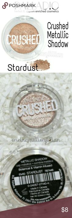 Palladio Crushed Metallic Shadow - Stardust New/Sealed  Full Sz & Authentic  Color: Stardust  Pressed pigments provide an outrageous foil finish  ☆ Highly reflective formula & finish  ☆ Amazing color depth  ☆ Non-creasing  Check my page for more great items & discounts. #oneinamillionjillian Palladio Makeup Eyeshadow