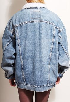 Lined denim jacket worn by a girl