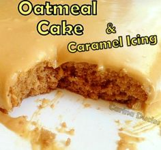 Oatmeal Cake With Caramel Icing A wonderful fluffy, moist cake with a great taste! Pinned for the cake. Could take or leave the icing. Icing Recipe, Frosting Recipes, Cake Recipes, Dessert Recipes, Sweet Desserts, Just Desserts, Sweet Recipes, Yummy Recipes, Recipies