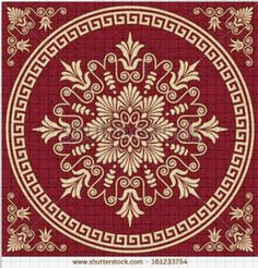 Ancient Greek Motif Stock Photos Images, Royalty Free Ancient Greek Motif Images And Pictures Cross Stitch Borders, Counted Cross Stitch Patterns, Cross Stitch Embroidery, Embroidery Patterns, Scroll Pattern, Red Pattern, Floral Pattern Vector, Cross Stitch Freebies, Crochet Butterfly