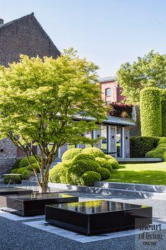 strak en authentiek, niels maier, zwart wit, minimalistisch, wit, zwart Landscape Architecture, Landscape Design, Contemporary Garden Design, Classic Garden, Modern Landscaping, Parcs, Water Features, Garden Inspiration, Design Inspiration