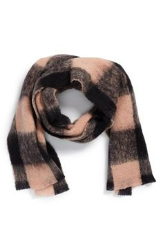 Maison Scotch Check Print Wool Blend Scarf | Nordstrom