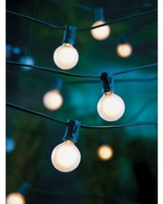 Frosted Globe Lights