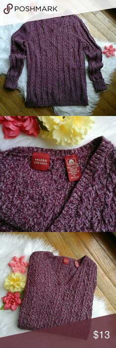 Vintage Marled Purple V-Neck Knit Sweater Awesome vintage thick knitted sweater in marled pink and purple tones. V neck cut. Will definitely keep you warm this fall and winter! In great condition. Listed for exposure! Size small :)   Measurements: Length (top of shoulder to bottom hem)- 22.5 inches  Bust- 17 inches flat across Urban Outfitters Sweaters V-Necks