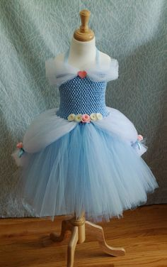 This Cinderella inspried ball gown is fit for a real princess! Perfect for princess parties, birthdays, photo sessions, gifts, and of course dress