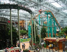 mall of the americas photos | Roller coasters in the 7 acre indoor park at the Mall of America.
