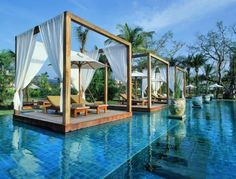 """""""You can sit at the pool and still hear the waves crash of the ocean only meters away."""" The Sarojin Khao Lak, Thailand"""